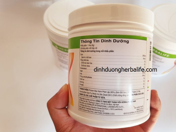 Sữa dinh dưỡng ăn kiêng Herbalife Protein( đạm herbalife) - giúp giảm cơn đói, săn chắc cơ thể 3