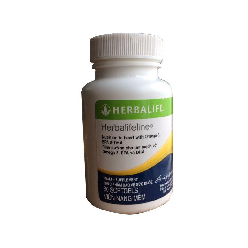 sản phẩm tim mạch ngăn ngừa đột quỵ Omega 3 Herbalifeline dầu cá